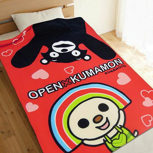【享夢城堡】薄刷毛空調毯100x150cm-OPENxKUMAMON-紅