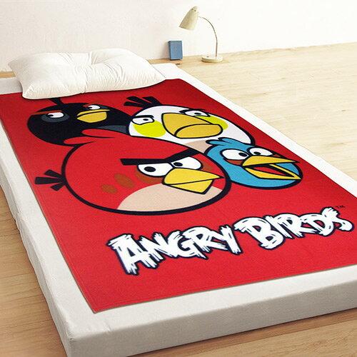 【享夢城堡】Angry Birds憤怒鳥 飛鳥聚聚樂 刷毛毯