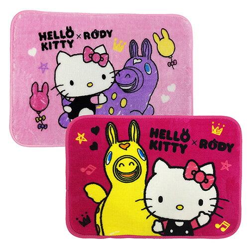 【享夢城堡】HELLO KITTY & RODY 我的好朋友 法蘭絨地墊2入(粉+桃)