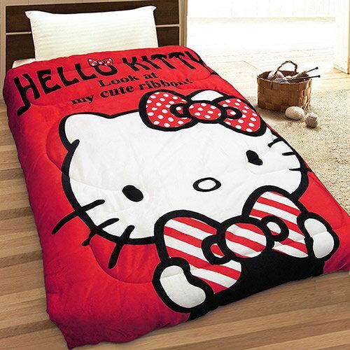 【享夢城堡】HELLO KITTY 我的小可愛 法蘭絨毯被(紅)