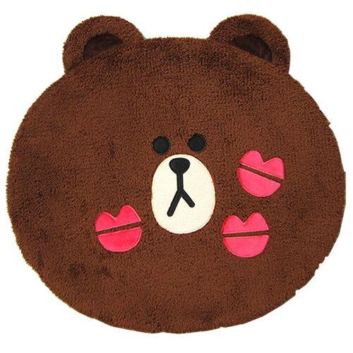 【享夢城堡】造型地墊2入(M)-LINE FRIENDS 熊大頭型-棕