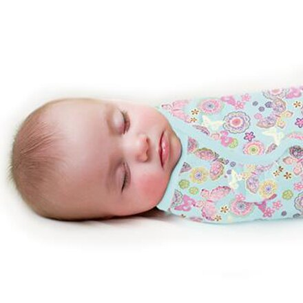 美國Summer Infant 聰明懶人純棉睡袋包巾-繽紛蝴蝶【悅兒園婦幼生活館】