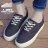 【AA217】繫帶低筒帆布鞋 / 布面鞋 小白鞋 3CM厚底 彩色鞋帶孔 基本款百搭 2色 1