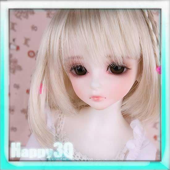 luts Girl BORY 球體4分人形人偶關節BJD娃娃SD裸娃生日禮物-白/膚【AAA0948】