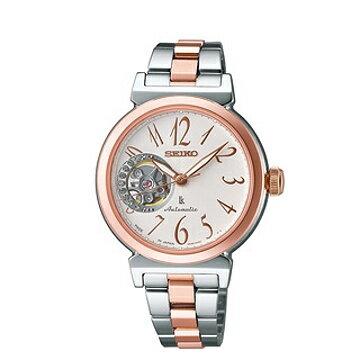 SEIKOLUKIA機械女錶白面x半玫瑰金34mm4R38-00N0KS(SSA896J1)
