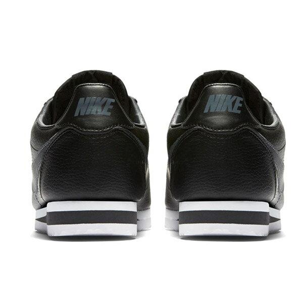 【NIKE】CLASSIC CORTEZ LEATHER 休閒鞋 阿甘鞋 黑色 (男) -749571011 2