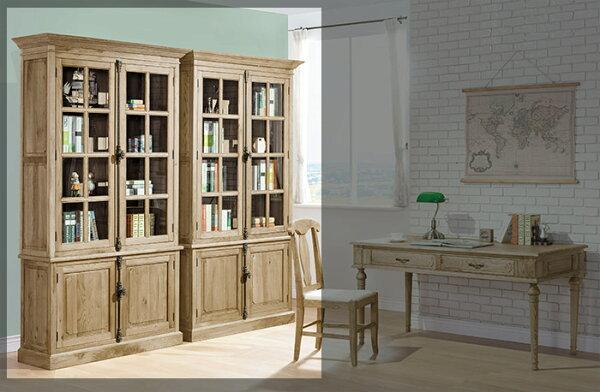 【尚品傢俱】HY-A488-01伊利諾白相全實木4尺書櫃
