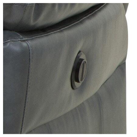 ◎(OUTLET)半皮1人用電動可躺式沙發 MEGA DBR 福利品 NITORI宜得利家居 2