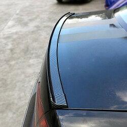 通用 卡夢尾翼 碳纖紋 免打孔 壓尾翼 碳纖擾流板 後遮陽 頂翼 軟下巴 橡膠 空力套件 沂軒精品 A0378
