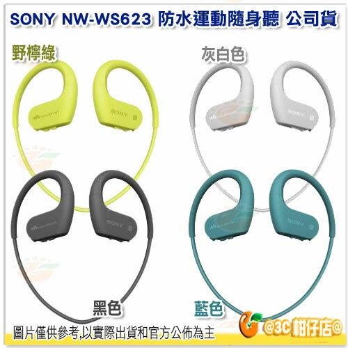免運 送收納盒 SONY NW-WS623 藍芽防水運動隨身聽 台灣索尼公司貨 含4G 頸掛式 運動型 MP3 游泳 極速充電 WS623 2