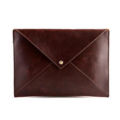 ★手拿包純色信封包-歐美復古商務文件男包包2色73sd22【獨家進口】【米蘭精品】 0