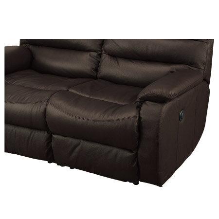 ◎全皮2人用頂級電動可躺沙發 BELIEVER2 DBR NITORI宜得利家居 5