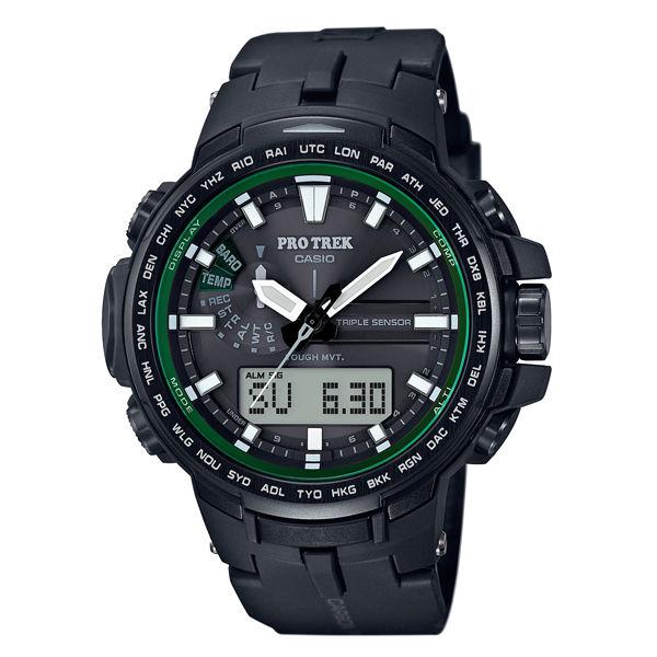 CASIO PROTREK PRW~S6100Y~1旗艦 登山雙顯電波腕錶  52mm