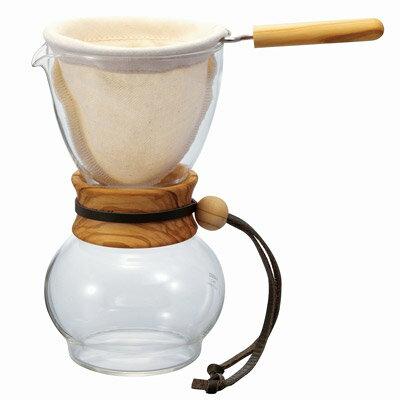 金時代書香咖啡   HARIO 濾布橄欖木手沖咖啡壺3~4杯 DPW-3-OV