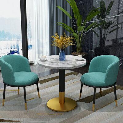 桌椅組合 美容院洽談桌椅組合簡約接待休閒會客4S售樓處休息區咖啡廳奶茶店『CM36572』