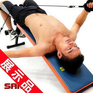 特長!!弧形仰臥起坐板 拉力器 展示品 健腹機健腹器.拉繩拉力繩彈力繩.仰板仰臥板 健身器