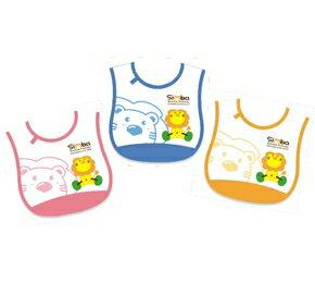 『121婦嬰用品館』辛巴 側黏圍兜舉重(粉/藍/橘) 0