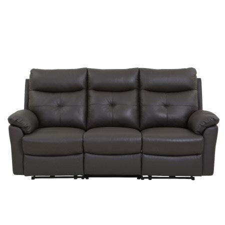 ◎(OUTLET)半皮3人用電動可躺式沙發 MEGA DBR NITORI宜得利家居 1