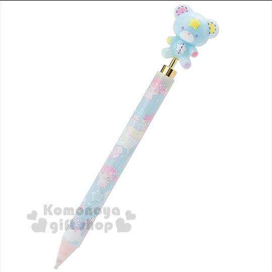 〔小禮堂〕雙子星 日製自動鉛筆《藍.立體小熊》夢幻系列