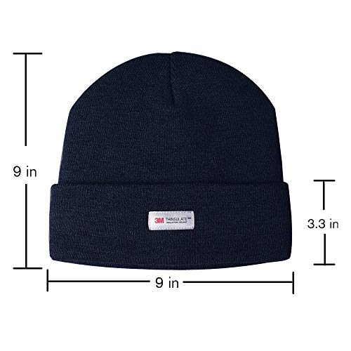 e40950fdd Evridwear Winter 3M Thinsulate Thermal Hat,Fleece Lined Beanie for Running,  Skiing, Camping for Men and Women