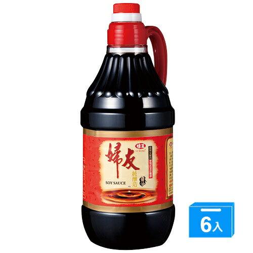 味王婦友純釀造醬油1.6l*6【愛買】