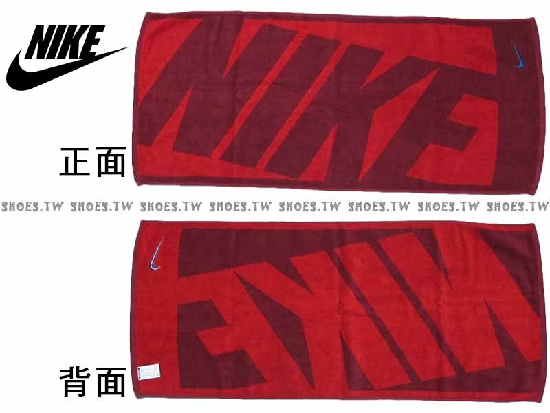 Shoestw~AC9647~616~NIKE毛巾 毛巾 盒裝 紅 純棉 2016