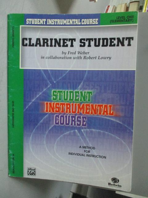 ~書寶 書T1/音樂_YCA~Clarinet Student Level One:  E
