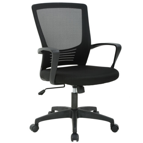 Incredible Office Chair Ergonomic Cheap Desk Chair Swivel Rolling Computer Chair Black Ncnpc Chair Design For Home Ncnpcorg