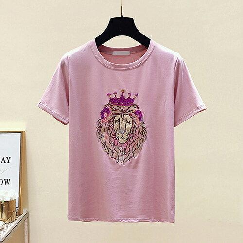 *ORead*韓版短袖圓領亮片刺繡T恤(3色M~2XL) 1
