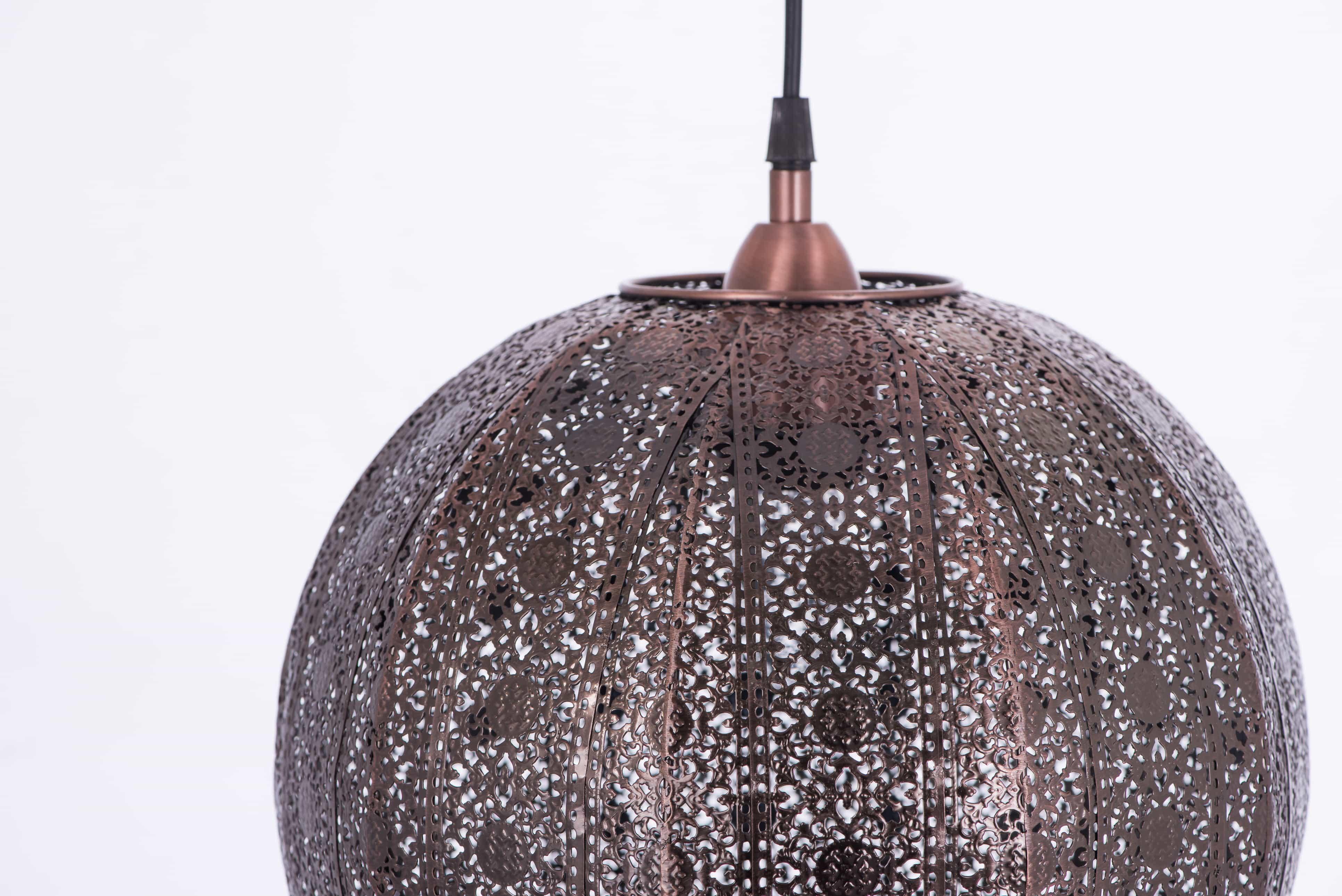 紅銅刷黑蕾絲花邊圓形吊燈-BNL00075 5