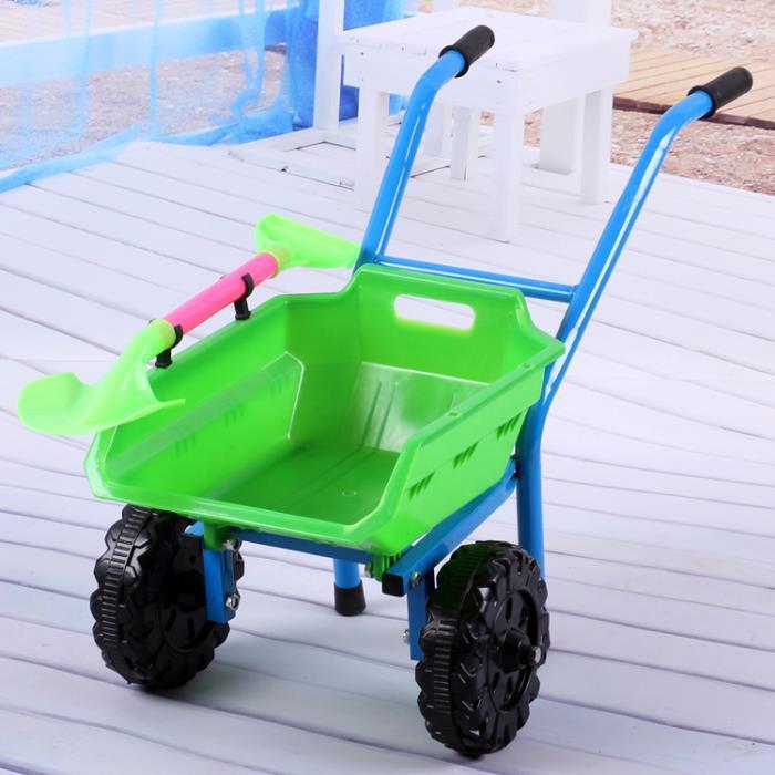 爆款兒童沙灘寶寶玩具手推車加大加厚雙輪單輪推土車小孩玩沙玩具 0