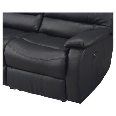 ◎全皮3人用頂級電動可躺沙發 BELIEVER2 BK NITORI宜得利家居 6