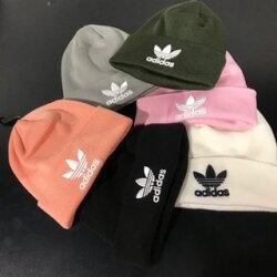 (限時搶購)KUMO SHOES-ADIDAS BEANIE 毛帽 黑色 粉色 白色 灰色 粉橘 綠色