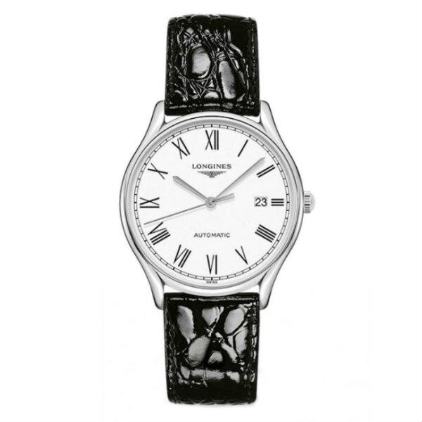 LONGINES浪琴表L49604112琴韻羅馬優雅時尚腕錶白面38.5mm