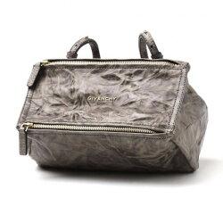 寶思精品正貨保證 Givenchy Mini 水洗小羊皮 潘朵拉包 Pandora  洗舊煙燻色