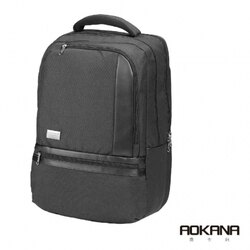 【AOKANA奧卡納】電腦後背包 超輕量 防潑水 商務後背包(神秘黑68-091)【威奇包仔通】