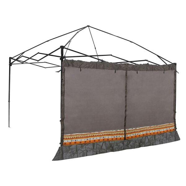露營趣:【露營趣】中和Outdoorbase23113歡樂(炊事)客廳帳專用邊布圍布-咖啡(附收納袋)