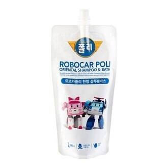 POLI 波力 漢方兒童2合1洗髮沐浴乳 補充包 360ml/包★愛康介護★