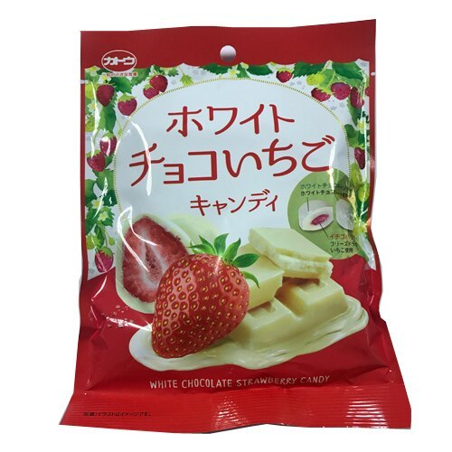 J-加藤草莓代可可脂白巧克力糖80g【愛買】