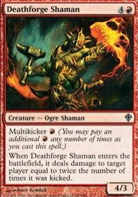 【Playwoods】 MTG 魔法風雲會 WWK No. 080 Deathforge Shaman 鍛亡祭師 UC卡(白卡非普紅生物)