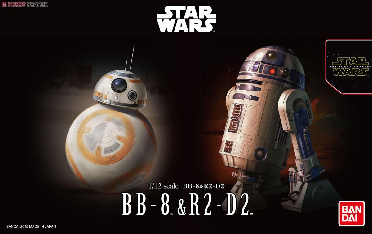 ◆時光殺手玩具館◆ 現貨 組裝模型 模型 BANDAI 1/12 星際大戰 STAR WARS BB-8 & R2-D2