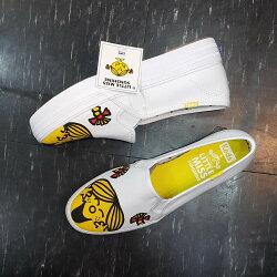 Keds LITTLE MISS SUNSHINE 樂觀小姐 奇先生妙小姐  聯名款 白色 黃色 懶人鞋 厚底 增高 3公分 帆布 限時贈送KEDS背袋 送完為止