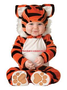 天姿舞蹈戲劇表演服飾特殊造型館:BABY020天姿訂製款可愛老虎寶寶造型爬爬裝男女加厚嬰兒連身套裝