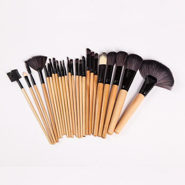 24支化妝刷套裝全套彩妝工具組合初學者刷子黑粉色化妝筆32支