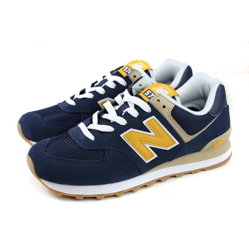 NEW BALANCE 574系列 運動鞋 復古鞋 深藍 / 黃 男鞋 ML574SPF-D no709 0
