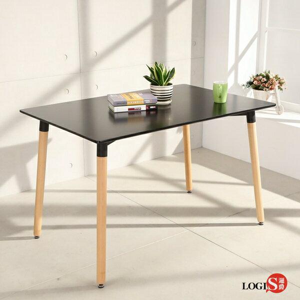LOGIS邏爵-自然簡約北歐寬80cm餐桌長桌工作桌書桌休閒桌T12080B