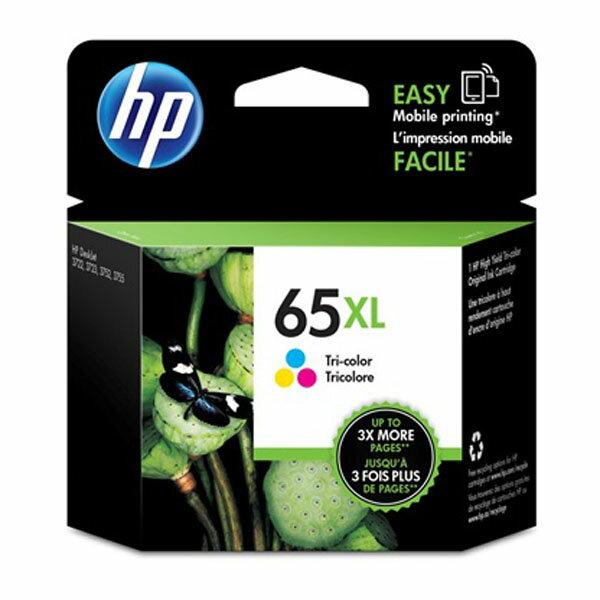 HP原廠彩色高容量墨水匣N9K03AA65XL號適用DJ37203721