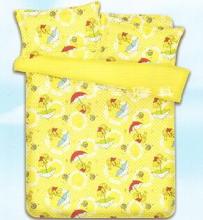 華閣床墊寢具:*華閣床墊寢具暢貨批發中心*《迪士尼.維尼放輕鬆》雙人床包組超柔軟磨毛工法不含被套