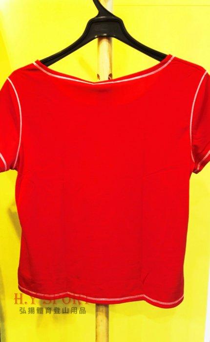 【H.Y SPORT】DRY-WET-TEX 多且5208s 圓領短袖排汗衫 紅色 [抗紫外線排汗衣,隨身型除濕機] 2