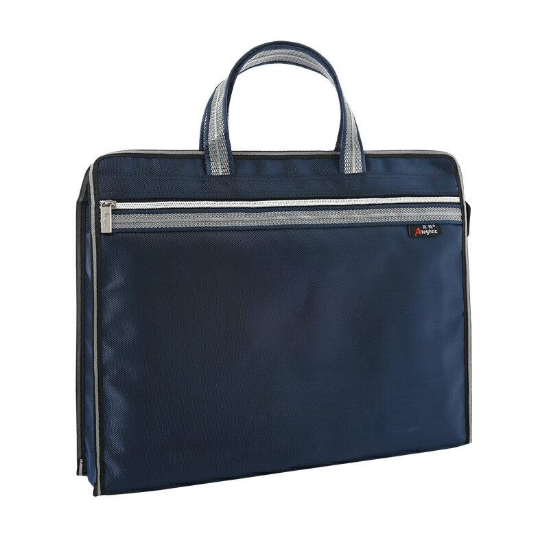 公文包 公事包 公文包女商務文件袋可定製印刷LOGO職業辦公大容量防水資料袋文件包男手提包『CM43231』